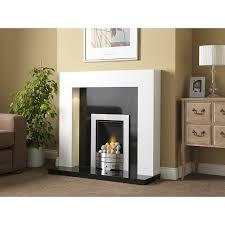 consett brilliant white fire surround