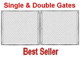 6ft Commercial Gate Kit Self Assembly 1 5 8 Frame With Hinges Latch Fence Material