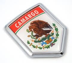 Camargo Mexico Flag Mexican Car Emblem Chrome Bike Decal 3d Sticker Mx Car Chrome Decals