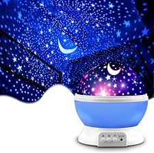 Amazon Com Star Projector Mokoqi Night Light Lamp Fun Christmas Gifts For 1 4 6 14 Year Old Girls And Boys Kids Bedroom Decor Blue Home Kitchen