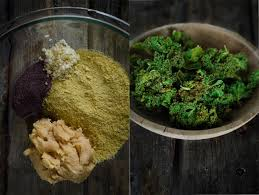 cheesy kale chips with miso garlic and