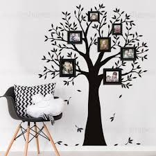 Amazon Com Simple Shapes Narrow Family Tree Wall Decal Black Small Size 62 5 W X 80 H Home Kitchen