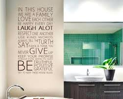 family quotes wall decals kids room decor ideas in this house