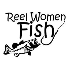 Reel Women Fish Sticker Stick Her Lady