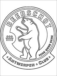 K Beerschot Ac Logo Kleurplaat Gratis Kleurplaten