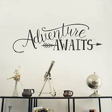 Mountain Design Wall Decals Life Is For Adventures Wall Decal Y15 Flying Birds Wall Sticker Travel