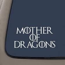 Mother Of Dragons Decal House Targaryen Decal 5 5 Inches Wide White Vinyl Decal Car Truck Van Suv Laptop Macbook Wall Decals Walmart Com Walmart Com