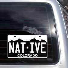 Colorado Native License Plate Vinyl Decal Fits Cars And Laptops Sticker S131 Ebay