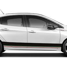 Italian Flag Horizontal Car Sticker Tenstickers