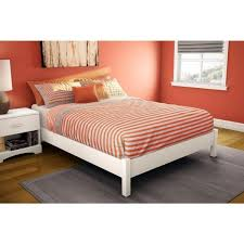 size platform bed in pure white