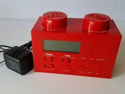 Lego 2010 Red Brick Portable Alarm Clock Am Fm Radio Lg11000 Kids Room Easy Use For Sale Online