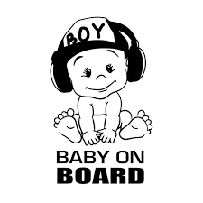 12x18cm Baby On Board Vinyl Sticker Car Decal Sticker For Car Window Funny Cute Cool Boy Design Waterproof New Ta126 Car Stickers Aliexpress