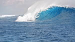 blue sea waves chromebook wallpaper