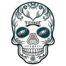Nfl Philadelphia Eagles Outdoor Dia De Los Muertos Skull Decal Bed Bath Beyond