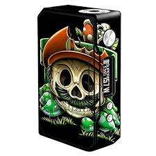 Skin Decal Vinyl Wrap For Voopoo Drag 157w Tc Resin Reg Vape Mod Stickers Skins Cover Gangster Mario Face Wish