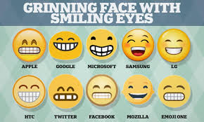 Grinning Face Emoji Looks So Different On Iphones And Android Handsets It S Confusing People Daily Mail Online