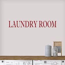 Amazon Com Vinyl Quote Me Laundry Room Wall Decor Decal Sticker Laundry Room Door Decals Laundry Room 33x4 5 Darkred Home Kitchen