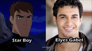 Elyes Gabel - Voices Starboy in DC Justice League vs Fatal 5 - YouTube