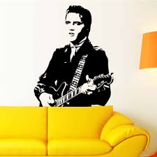 Creative Home Decor Elvis Presley Playing Guitar Home Decor Vinyl Wall Stickers Adhesive Quarters Of Children Room Creative Home Decor Olivia Decor Decor For Your Home And Office
