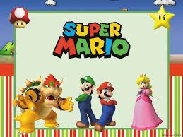 Fiesta De Super Mario Bros Invitaciones Para Imprimir Gratis