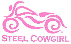 Steel Cowgirl Women S Motorcycle Window Decal