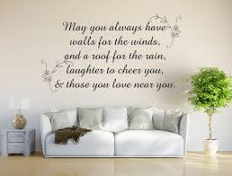 Irish Blessing Vinyl Decal May You Always Have Walls Decal Quote I Inspirational Wall Signs