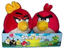 Toys & Games Blue Yellow Birds Set of 3 Angry Birds Plush 4-inch Red Plush  Puppets Toys & Games Stuffed Animals & Toys