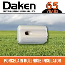 Porcelain End Strain Insulator 40 Pk Electric Fence Wire Poly Tape Bullnose Ebay