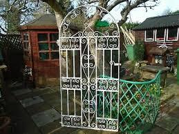 white decorative wrought iron gate 6 x