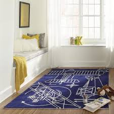 Momeni Lil Mo Hipster Aero Navy Blue 5 Ft X 7 Ft Indoor Kids Area Rug Lmotwlmt16nvy5070 The Home Depot