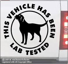 Lab Tested Labrador Retriever Decals Stickers Nickerstickers