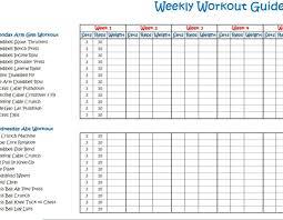 weekly workout program schedule