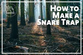 how to make a snare trap the simple