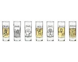 the 7 deadly sins shot glasses set of