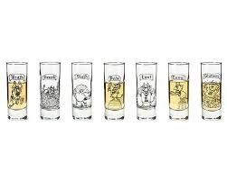 the 7 deadly sins shot glasses set of
