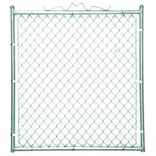 Yardgard 48 In W X 48 In H Galvanized Steel Welded Walk Through Chain Link Fence Gate 328312a The Home Depot