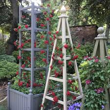 wooden garden obelisk planters any