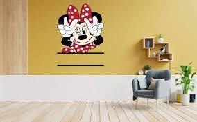 Design With Vinyl Minnie Mouse Cute Peace Vinyl Wall Decal Wayfair