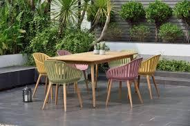 colour rectangle garden dining set