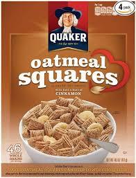 quaker oatmeal squares cereal cinnamon