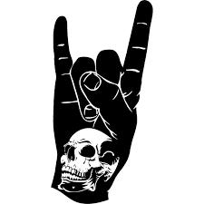 10cm 20cm Skull Hand Rock N Roll Personality Funny Vinyl Decal Car Stickers S6 3259 Car Sticker Car Decal Stickerdecals Car Aliexpress