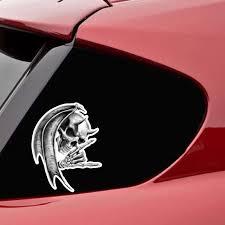 The Devil Death Skull Car Sticker Reflective Decal Pvc Aleph Zero
