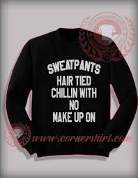 sweatpants hair tied custom design