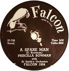 78 RPM - Priscilla Bowman - Yes, I'm Glad / A Spare Man - Falcon - USA -  1004