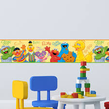 Wall Border Stickers For Baby Room Sesame Street Muraldecal Com
