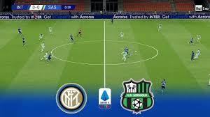 Inter Milan vs Sassuolo   Serie A TIM 2020 Giornata 27 - YouTube