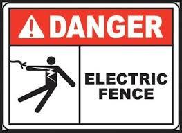 Danger Electric Fence Sign Amazon Com Industrial Scientific