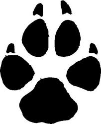 Grey Wolf Animal Track Decal