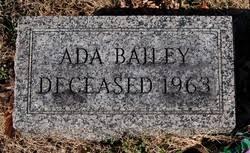 Ada Bailey (Unknown-1963) - Find A Grave Memorial