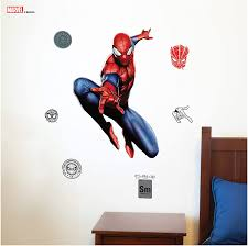 Amazon Com Marvel Spider Man Wall Decal Spider Man Wall Decals With 3d Augmented Reality Interaction Marvel Room Decor Marvel Wall Decals Kitchen Dining